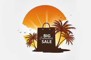 Big summer sale vector template