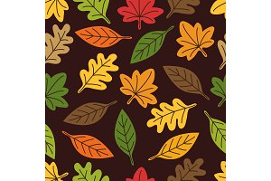 Cute autumn seamless pattern with