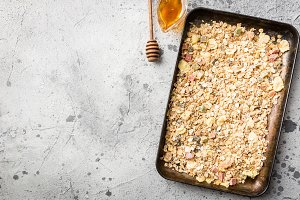 Homemade Granola with honey