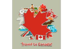 Canada sticker background design.