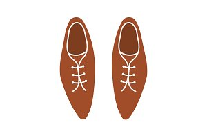 Men's shoes glyph color icon