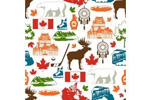 Canada seamless pattern.