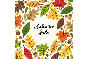 Cute Autumn Leaves frame