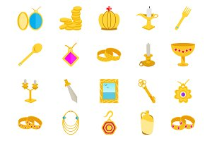 40 Treasure Flat Icons