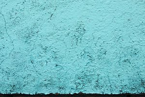 Turquoise Peeling Paint Texture