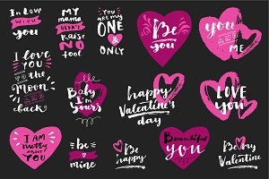 Love Quotes Calligraphy Set