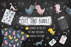 Cute nursery dinosaurs bundle