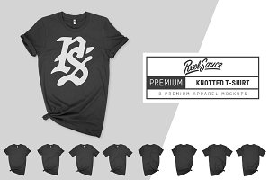 Premium Knotted T-Shirt Mockup