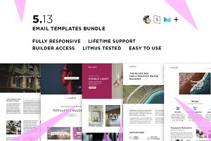 5 Email templates bundle XIII
