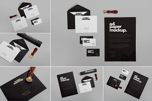 6 Stationery Design Mockups