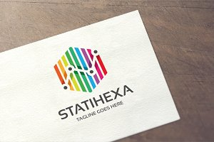 Statistic Hexagon Logo