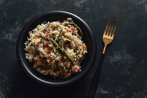 Basmati rice with sauteed vegetables