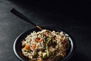 Basmati rice with sauteed vegetables