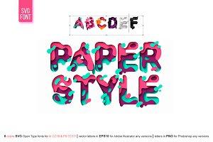 PAPER style OTF-SVG Font - 20%