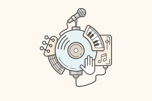 Music Line Illustration