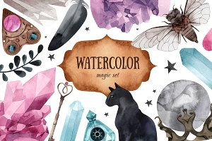 Watercolor magic set