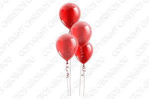 Red Party Balloons Graphic