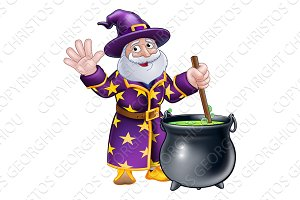 Wizard Cartoon Character and
