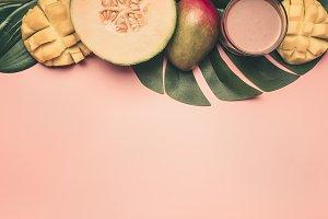 healthy food, tropical fruits,