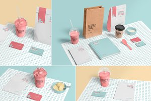 Transparent Ice Cream Cup Mockups