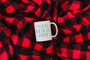 11 oz Buffalo Christmas Mug Mockup