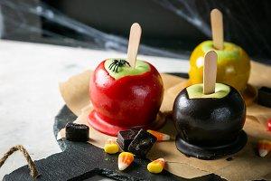 Halloween style sweets - black