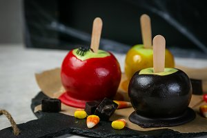 Halloween style sweets - black