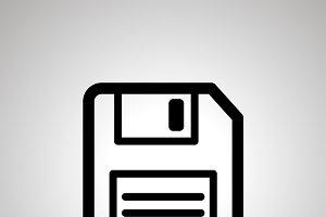 Floppy-disk retro save symbol