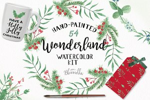 Wonderland Package Christmas Clipart