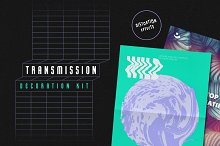 Transmission Warp Text Effects by  in Actions