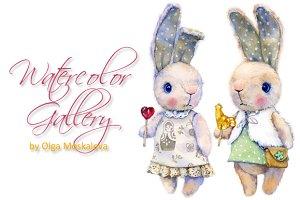 Plush rabbits