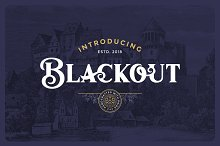 Blackout Typeface by  in Display Fonts