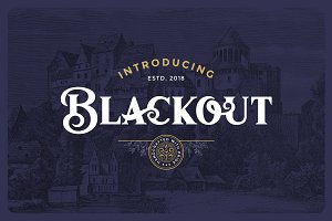Blackout Typeface