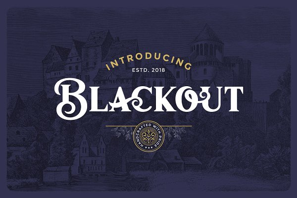Display Fonts: Victor Barac - Blackout Typeface
