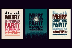 Christmas Party typographical poster