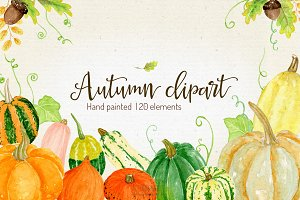 Watercolor Pumpkin Clipart