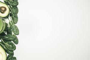 healthy eating spinach avocado