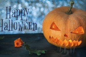 Halloween pumpkin monster