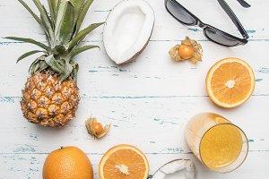 fresh delicious fruit, pineapple