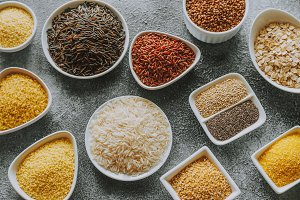 Assortment of grains