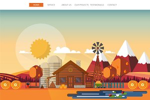 Autumn one page website template