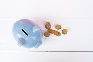 Piggy bank, savings concept