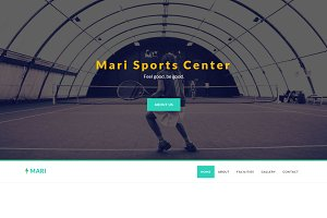 Mari - Sports Center Template