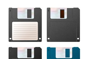 Realistic detailed floppy-disks