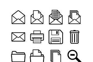 General user interface pictograms