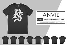 Anvil 6750 Triblend T-Shirt Mockups by  in Product Mockups