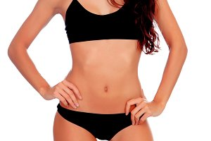 Perfect body woman with black underw
