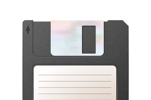 Realistic detailed floppy-disk