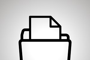 Open folder with document