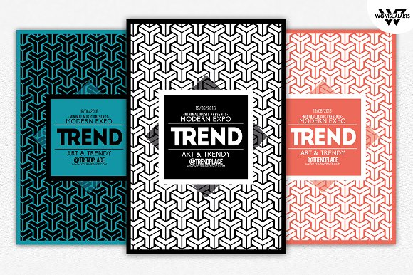 GEOMETRIC TRENDY Flyer Template Flyer Templates on Creative Market – Geometric Flyer Template